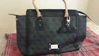 100% Authentic GUESS Cheatin' Heart Avery Satchel  in Coal
