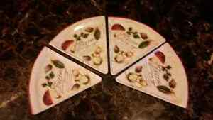 Pizza plates set of 4