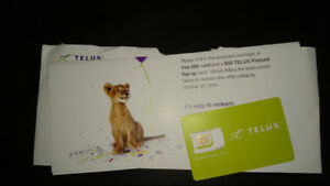 New Unused TELUS SIM card with $50 credit!!
