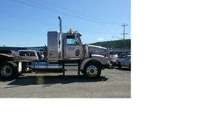 Western Star winch truck/ Scissor neck trailer