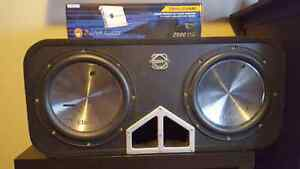 2 12 inch subs with 2500 watt amp