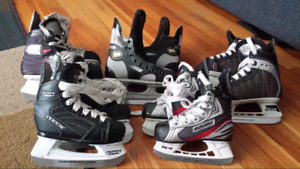Bauer Vapor Itech CCM Skates Youth 6 8 9 10 11 Gently used Ice