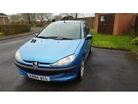 Peugeot 206 with 1 year mot