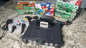 Nintendo 64 + 10 games all tested working great shape