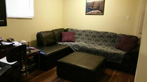 FULLY FURNISHED - One bed bedroom basement apartment