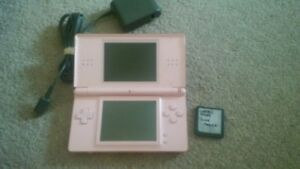 Pink Nintendo DS + 1x Game