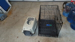 Small pet carrier and 2 pet cages $20 each