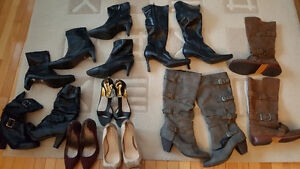 Womens boots & shoes size 9 like new, cleaned