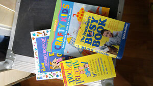 lot of children's craft books and a lot of art/ portrait books