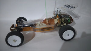 1984 b stamped team associated gold pan RC buggy $150