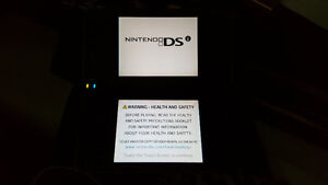 Black DSi  XL and case with extras