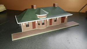 Model Railroad Depot Structure