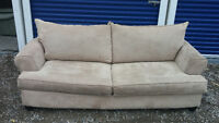 Large Microfiber Couch -  (CAN DELIVER)