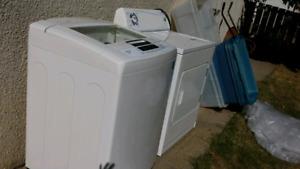 LG Washing machine and extra large capacity Inglis dryer