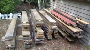 Decking lumber, mix of cedar and pressure treated