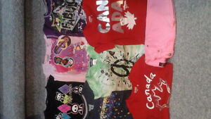 Girls size 7/8 tops and capris