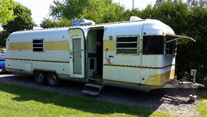 Silver Streak, aluminum trailer similar to an Airstream
