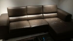 faux leather small sectional for sale