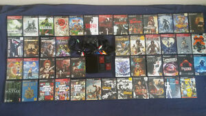 Playstation 2 PS2 slim w/ 4 memory cards & lot of 46 games