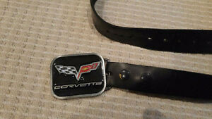Corvette Belt Buckle And Leather Belt