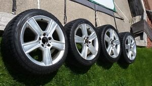 Mercedes Benz genuine rims and winter tires for sale. London Ontario image 1