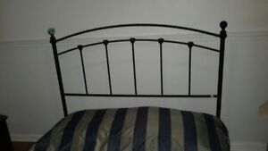 Wrought Iron Bed Headboard & Footboard