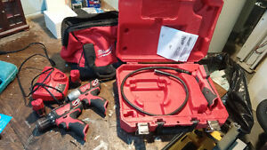 M12 Milwaukee drill and inspection camera set