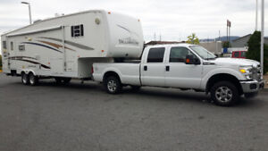 Roulotte fifthwheel 2004 et camion Ford 2016