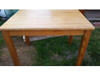 Solid Pine Indoor/Outdoor Table with removable legs