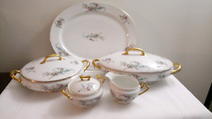 French Limoges Bawo Dotter Teacups and Serving Pieces