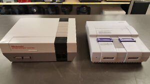 Console Nintendo NES et Super Nintendo SNES