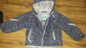 Columbia jacket size 4 toddler& kamin boots size 10