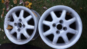 Only TWO 8 spoke 4 x 100 bolt pattern rims
