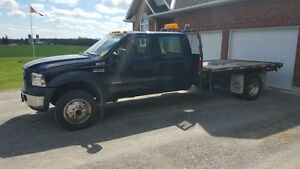 2007 F550 4x4 Crewcab Flatdeck *Certified and Etested*