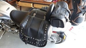 New Six Saddles bags set, for sale that fit a number of Harleys