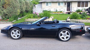 CHEVROLET CUSTOM CORVETTE CONVERTIBLE XXX BLACK 1990 VINTAGE