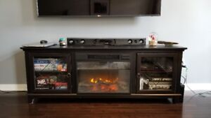 Electric Fireplace (doubles as TV Stand) with Storage