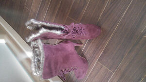 Red Stiletto boots -never worn