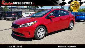 CERTIFIED 2017 KIA FORTE LX PLUS, ONLY 31K  - YORKTON