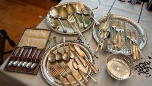 Silver Plate Flatware various pieces