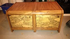 2 large solid wood cabinets