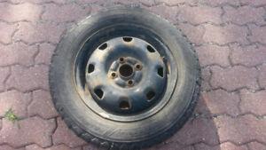 """Winter tires 14"""" on rims/Pneus d'hiver 14po sur jantes"""