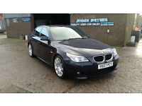2007 BMW 530d 3.0TD M-SPORT AUTOMATIC 6 SPEED SALOON,FINISHED IN BLACK METALIC,