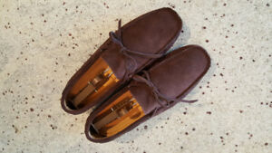 Excellent condition Men's brown suede loafers size 10
