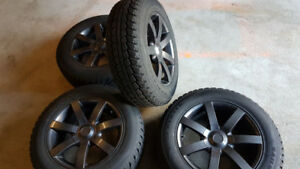 Winter Tires on rims almost new!