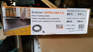 Schluter ditra heat cable .