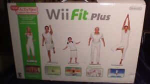 NEW IN BOX WII FIT PLUS BOARD WITH FITNESS GAMES