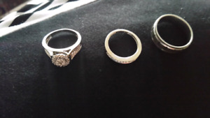 wedding ring set 14k