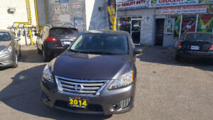 2014 NISSAN SENTRA SR LOADED PUSH BUTTON START WITH ONLY 55KM!!