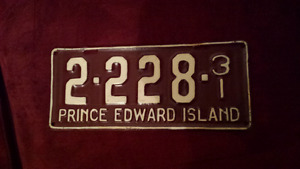 1931 Prince Edward Island license plate Chev Ford Dodge